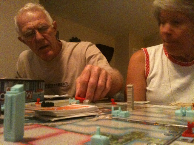 Seniors playing Monopoly